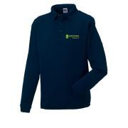 Sweatshirt mit Kragen - Navy